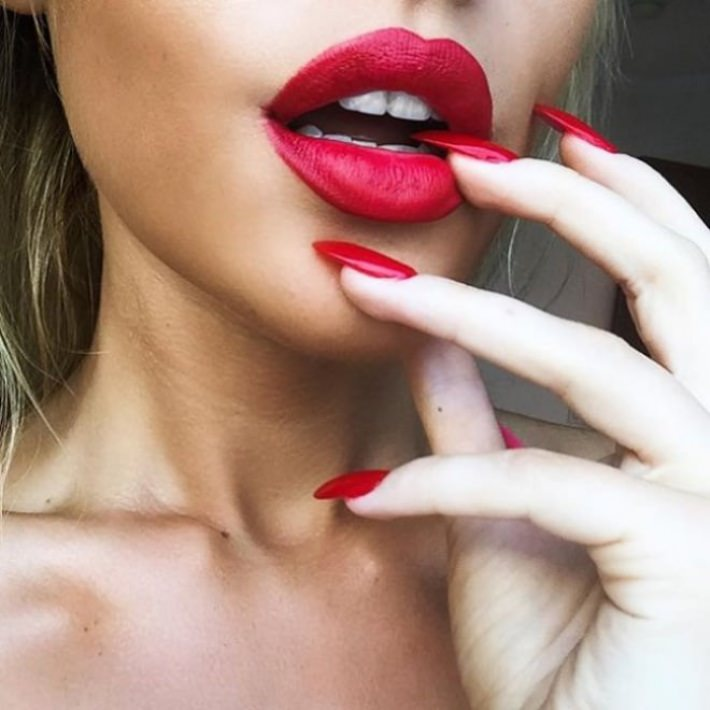 nails and lipstick tumblr - 710×710