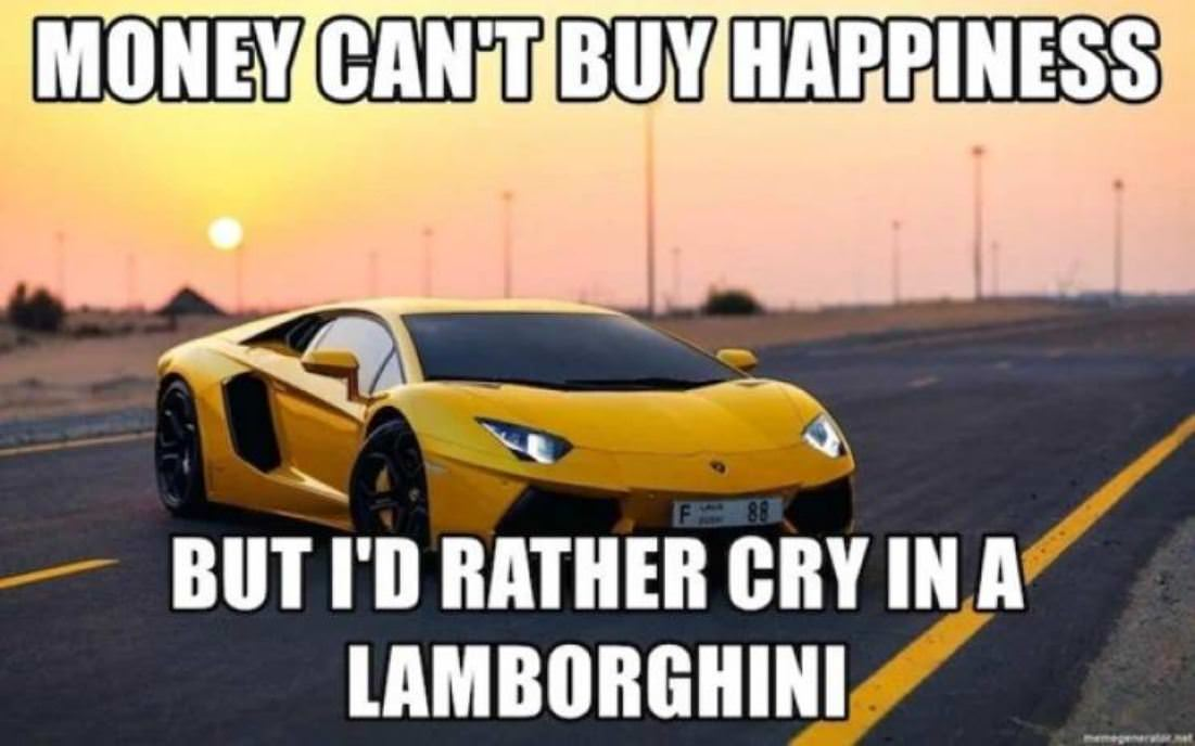Cannot Buy Happiness