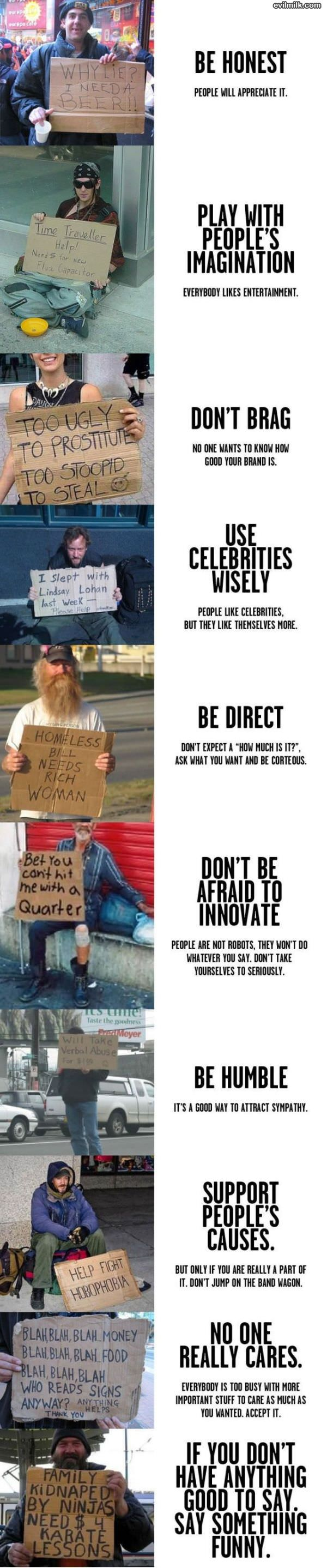 Homeless Signs