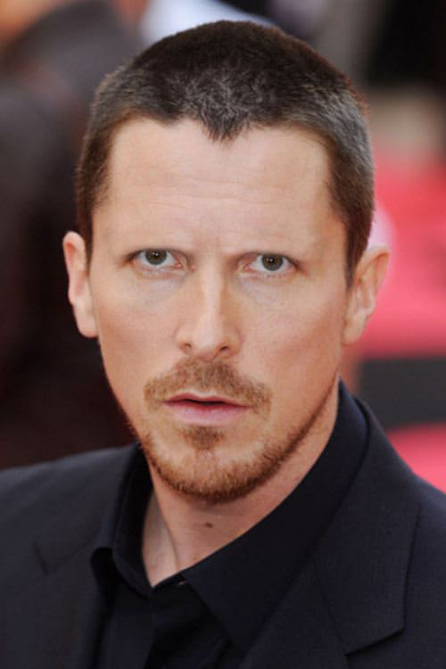 Christian Bale without eyebrows