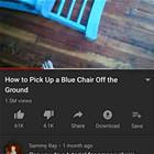 How To Pick Up A Blue Chair